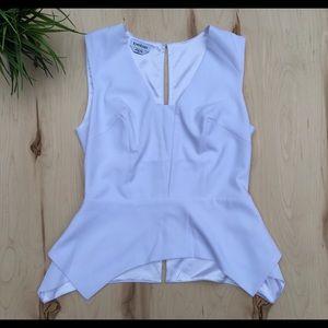 Bebe sleeveless peplum dressy blouse top